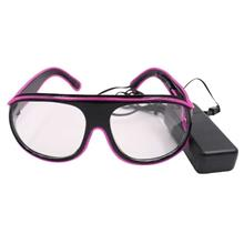 YJ008 LED Glass 10 Colors Optional Light Up El Wire Neon Rave Glasses