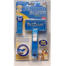 Pet Zoom Self Cleaning Grooming Brush with Bonus Pet Trimmer