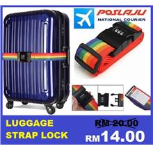 Password Lock Luggage Suitcase Bag Strap Band Belt Name Tag Rainbow