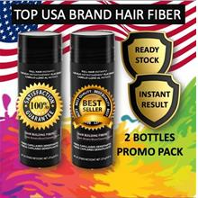 BEST PRICE TWIN PACK ( 2 bottles 27.9g ) Black Hair Fiber Instant Hair Loss Co