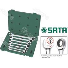 SATA 7PCS SPEED COMBINATION WRENCH SET 8-18MM (09024)