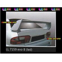 LL7159-SP Proton Wira Aeroback Fiber Spoiler with Led (Evo 8)