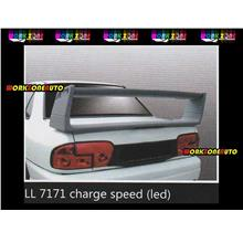 LL7171 Proton Wira Saloon Fiber Spoiler with Led (Charge Speed)