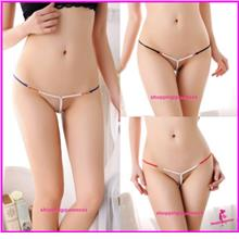 Sexy Lingerie Women Underwear Girls Pearls G-String Panties Briefs  -