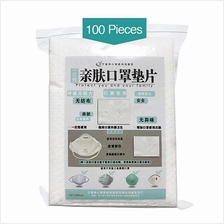 100pcs Disposable Face Masks Replacement Filtering Pad Breathable Mask Gasket