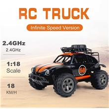 KY-1816A RC Truck 2.4G 2WD 1/18 Scale RC Crawler Off-road Truck Infinite Speed