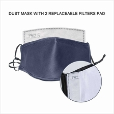 Dust Mask with 2 Replaceable Inner Filter Pad Anti-Fog Anti-Pollution Anti-Dus