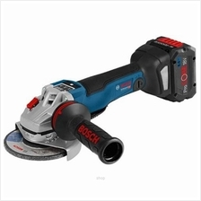 Bosch GWS 18V-10 Cordless Brushless Angle Grinder Kit (with 2 Batteries + 1 Ch