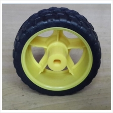 65mm Yellow Smart Car Robot Plastic Tire Wheel