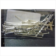 DIY 30p T-Pins 925 Sterling Silver Headpins 2cm 20mm for Craft