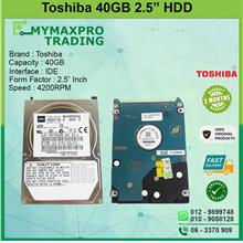 Toshiba 40GB 2.5' SATA HDD Notebook Hard Disk Drive