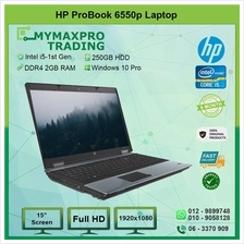 HP ProBook 6550b Intel i5 520M 2GB DDR3 RAM 250GB HDD Win10Pro