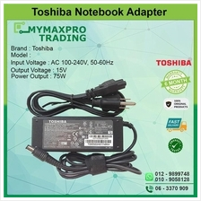 NEW Original Toshiba 15V PA-1750-08 PA3469E-1AC3 Laptop Adapter