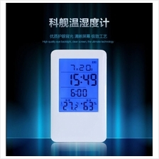 MC501 LCD Digital Alarm Clock Temperature Humidity Meter Thermometer