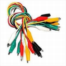 10pcs Double-ended Alligator Clip Test Leads 5 Colours