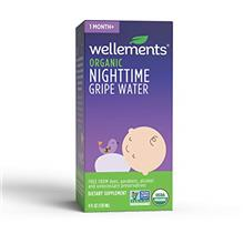 Wellements Organic Nighttime Gripe Water, 4 Fl Oz, Eases Baby's Stomach Discom