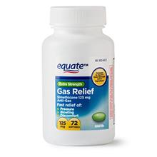Equate - Gas Relief, Extra Strength, Simethicone 125 mg, 72 Softgels, Compare