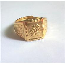 Lucky Gold Plated Copper Ring Men Gold Ring FAåâââ
