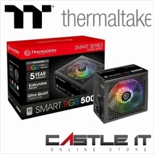 THERMALTAKE SMART RGB 500W 80PLUS Power Supply (SPR-0500NHSAW)