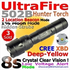 UltraFire 502B Hunting (Cree XBD/Yellow,8s+LVA) LED Torch FlashLight