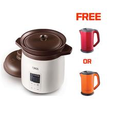 Toros 5L Zisha Stew Cooker FREE 1.7L Electrical Kettle (Red or Orange)