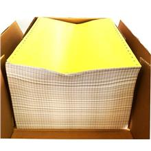Computer Form Paper A4 Size 2NCR Ply Carbonless White Yellow 1000Fans