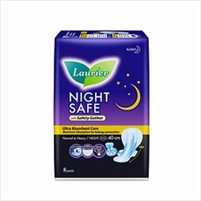 Laurier Night Safe 40cm Pads with Wings (Ultra Absorbent) 8pc