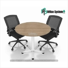 3 Feet Round Shape Discussion Meeting Table with Star Leg