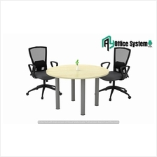 4 Feet Round Shape Discussion Meeting Table with I Metal Leg