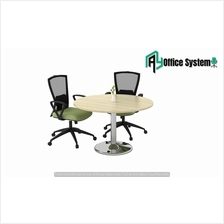 3 Feet Round Shape Discussion Meeting Table with Drum Chrome Leg