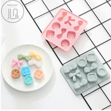 Food Grade Silica Gel Mold in Bow Candy Buttons Shapes