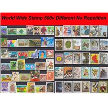 World Wide Stamp 500v Different No Repetition