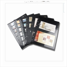 PCCB Stamp Album Stock Pages Black & Double Sided (Standard 9-hole)