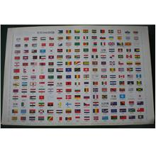 The flags of 194 countries of the world.