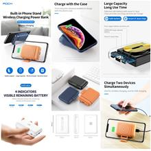 ROCK P51 10000mAh Mini Wireless Charging W/ Stand Power Bank Battery