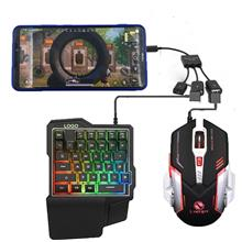 Ios Android Mechanical Keyboard Mouse set for Mobile Gaming