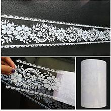 Wallpaper Border Stick and Peel - Transparent Floral Lace Wallpaper Mirror Gla