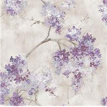 RoomMates Weeping Cherry Tree Blossom Purple Peel and Stick Wallpaper | Remova