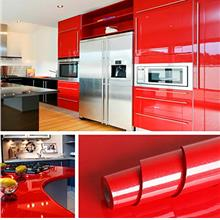 Livelynine Red Contact Paper Self Adhesive Wall Paper Decorations Peel and Sti