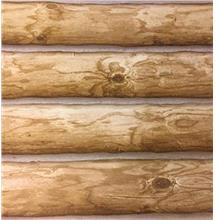 "Log Cabin Wallpaper Prepasted Double Roll 27 ""x 324 "" Light to Mediu"