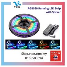 5Meter IP65 RGB5050 Pixel RGB Strip Light Running LED Lampu 3M Sticker