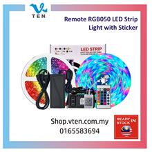 12V 5Meter IP65 RGB5050 Remote Adapter LED Strip Light & 3M Sticker