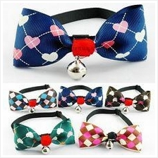 3 pcs Pet collar/bowtie with bell for cat and dog