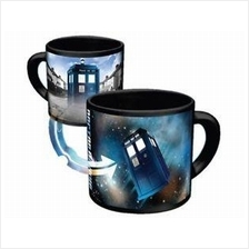 Awesome Heat Changing Doctor Who Tardis Mug Disappearing 12oz