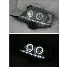 Toyota Hilux Vigo 11-13 Black Projector Head Lamp w Ring & LED