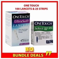 One Touch Simple Select Blood Glucose Strips + One Touch Lancets 100s