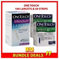 One Touch Simple Select Glucose Strips 50s + One Touch Lancets 100s