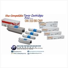 OKI 310 BK  CMY Compatible Toner cartridges