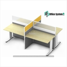 4 Feet Rectangular Shape Office Table Partition Workstation - R 25