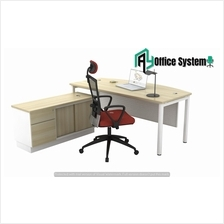 6 Feet Manager Office Table| Office Furniture - VSL 180 A + VSP 1226